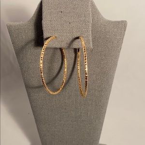 Gold colored hoops